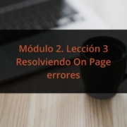Resolviendo On Page errores